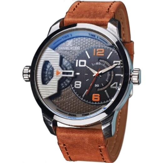 Ρολόι Daniel Klein Premium με διπλή ώρα και καφέ λουράκι DK11413-7 -  Glami.gr bda2cc65354