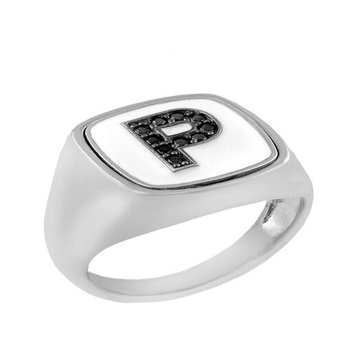 Paraxenies Δαχτυλίδι από ασήμι 925 με το μονόγραμμα Ρ - Glami.gr 6c117018547
