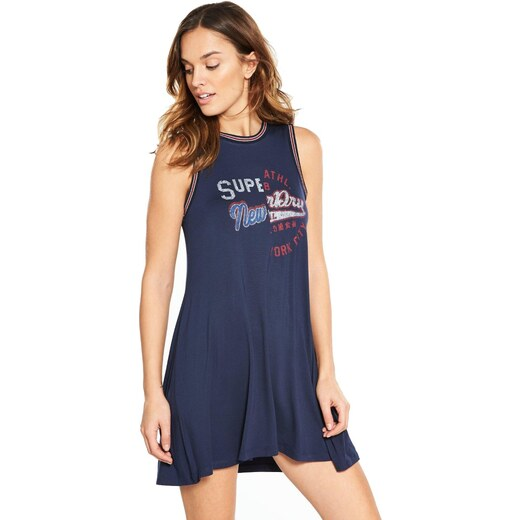 Superdry Sport College Swing Φόρεμα Γυναικείο G80010XQ - Μπλέ - Glami.gr 2a1963d9084