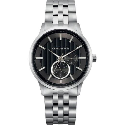 Ρολόι Cerruti Carzano με ασημί μπρασελέ και ημερομηνία CRA20808 - Glami.gr 0020716973c