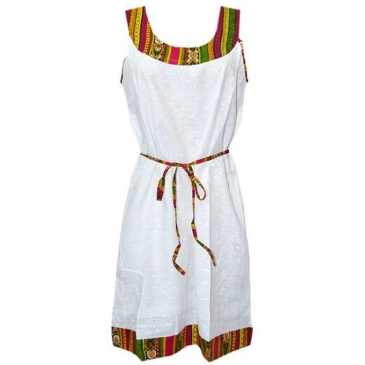 51cd26b5479b Platinum Καλοκαιρινό Φόρεμα Ancient Muse 7503 Λευκό Κοραλλί - Glami.gr