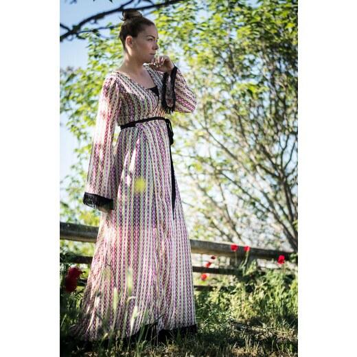 3b30349e4eb8 Lovender Κρουαζέ Φόρεμα Μακρύ Δετό Καμπάνα Μανίκι Ethnic - Glami.gr
