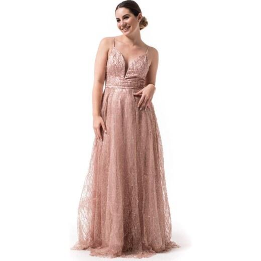 0aaf23660eb7 Petit Boutik Maxi Βραδινό Φόρεμα Ροζ Glitter Princess S/M - Glami.gr