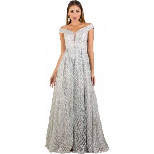 665e74551512 DeCoro F17446 Φόρεμα gliter - ΑΣΗΜΙ - 12 - Glami.gr