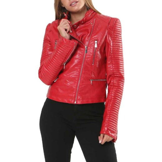 CapriccioShop Jacket Δερματίνη Σε Κόκκινο - Glami.gr 5be4faa80b4