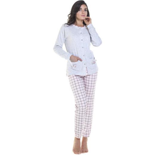 Γυναικεία βαμβακερή πυτζάμα με κουμπιά Irge σε γκρι χρώμα - Glami.gr df65795bb63