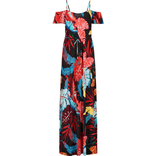 Celestino Μaxi φόρεμα με τροπικά φύλλα SD8397.8007+1 - Glami.gr 7df9326ddde