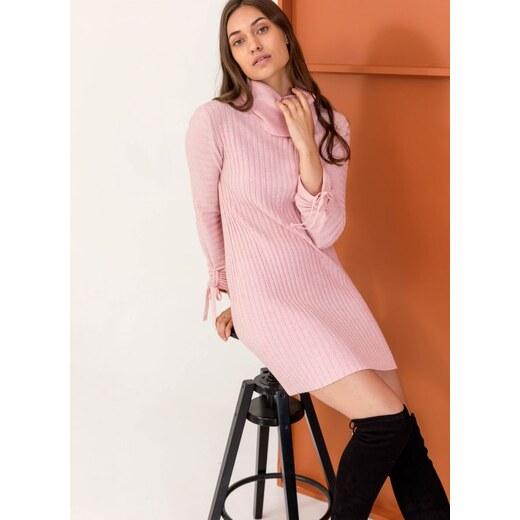 423ed14d8cd8 The Fashion Project Ριπ πλεκτό εφαρμοστό φόρεμα με ζιβάγκο - Ροζ -  05897012013 - Glami.gr