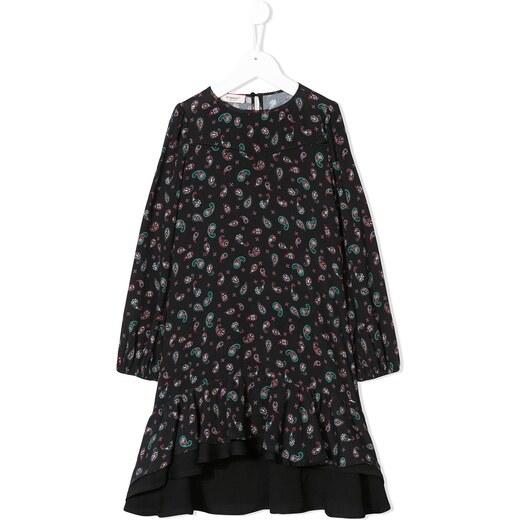 fcd83a292d2 Pinko Kids paisley high low dress - Black - Glami.gr