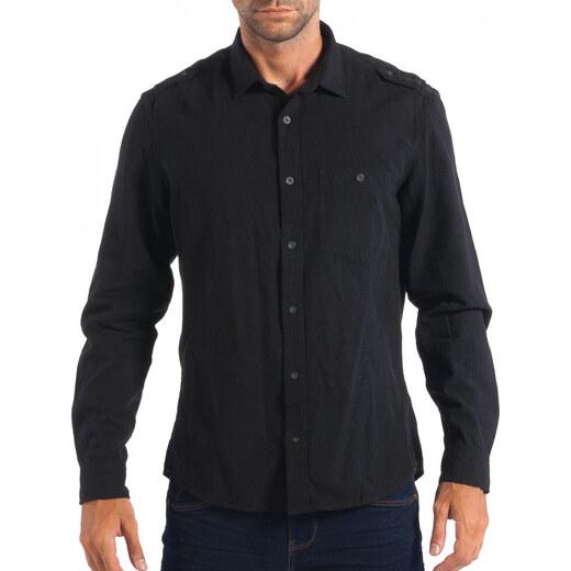 Ανδρικό μαύρο λινό πουκάμισο RESERVED Regular fit - Glami.gr 47c307e6af8
