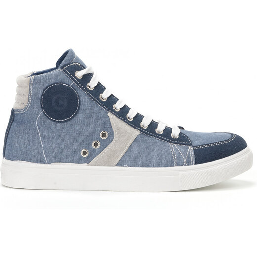 YMD Ανδρικά γαλάζια sneakers από τζιν ύφασμα - Glami.gr e81d02aff66