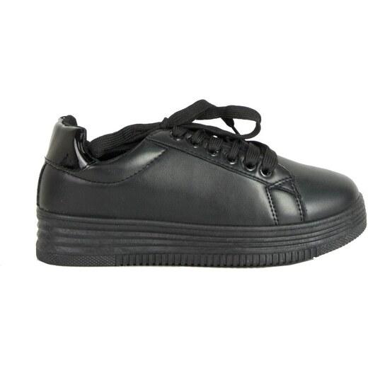 bc790dc8836 Huxley & Grace Γυναικεία μαύρα μονόχρωμα Sneakers κορδόνια LBS6516R -  Glami.gr
