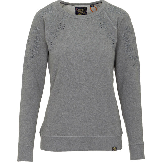 0cde441413aa SUPERDRY W D1 ADELAIDE BRODERIE CREW SWEATER - G20001RR-VZ5 GREY - Glami.gr