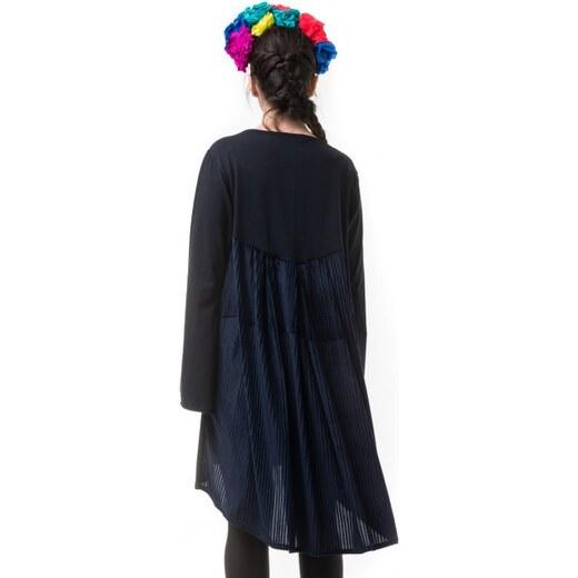 696c49da8e6e Petit Boutik Μπλε Κοντό Φόρεμα με Ουρά Ριγέ Βελούδο - Glami.gr