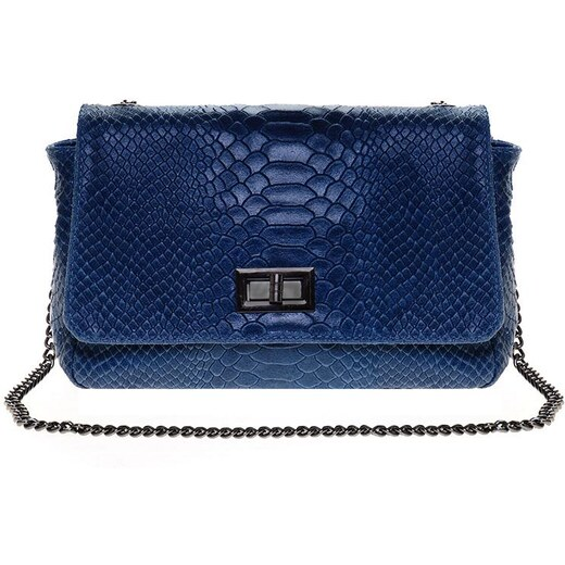 def87d370f Selvino Δερμάτινη τσάντα Croco ώμου χιαστή Μπλε Ανοιχτό - Glami.gr