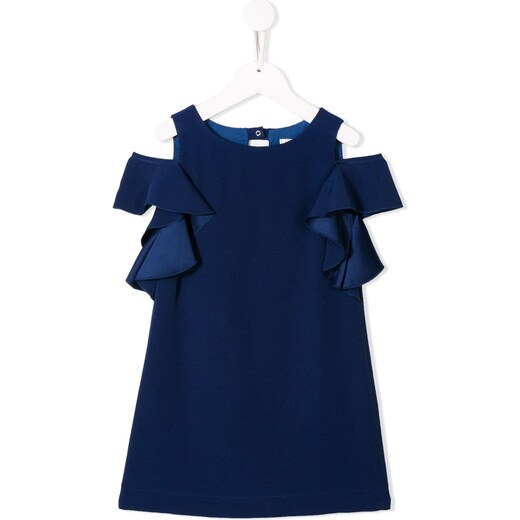 59356c1d5ba Monnalisa ruffled sleeve dress - Blue - Glami.gr