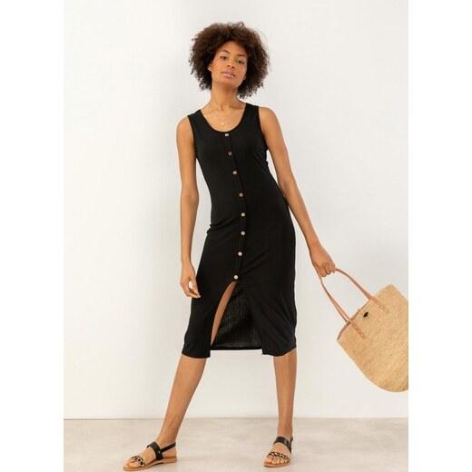 91144d29dd12 The Fashion Project Αμάνικο ριπ φόρεμα με άνοιγμα μπροστά - Μαύρο -  07464002001 - Glami.gr